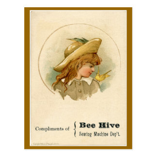 Bee Hive Sewing Machine Ad Post Cards