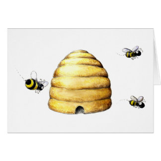 Bee Hive Stationery Note Card