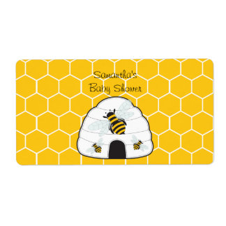 Bee Hive Water Bottle Label Shipping Label