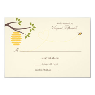 Bee Hive Wedding Response Card