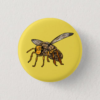 Bee Hiv'in Bee Pinback Button