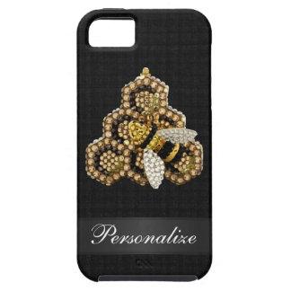 Bee & Honeycomb Diamond Jewels Personalized iPhone SE/5/5s Case
