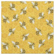 Bee Honeycomb Honeybee Beehive Pattern Cute Nature Fabric