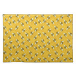 Bee Honeycomb Honeybee Beehive Pattern Party Cloth Placemat