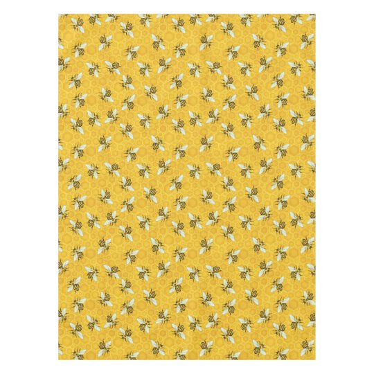 Bee Honeycomb Honeybee Beehive Pattern Party Tablecloth Zazzle Custom Bee Pattern
