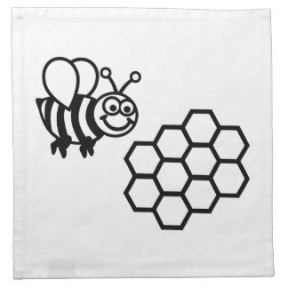 Bee honeycomb printed napkin