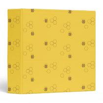 Bee Honeycomb Pattern 3 Ring Binder
