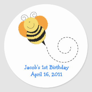 BEE HOP Baby Shower or Birthday Favor Stickers