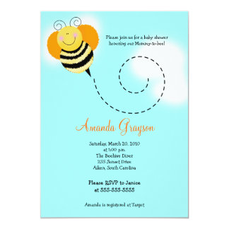 Bee Hop Bumble Bee Baby Shower #2 Invitation 5x7