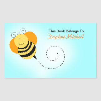 Bee Hop Bumble Bee Custom Book Plate Sticker
