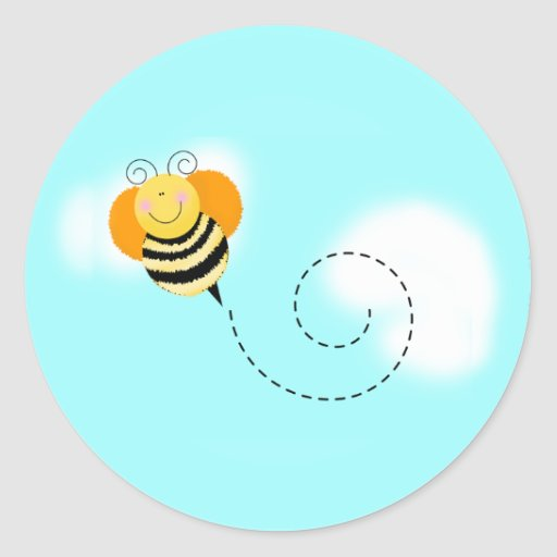 Bee Hop Bumble Bee Envelope Seal Stickers