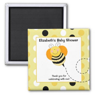 Bee Hop Bumble Bee Favor Magnet Square