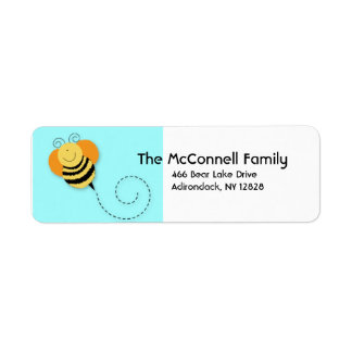 BEE HOP BUMBLE BEE PRINTABLE ADDRESS LABELS