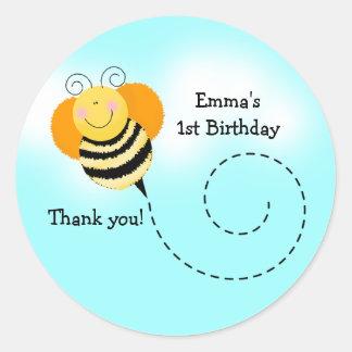 BEE HOP ROUND Bumblebee Favor Stickers