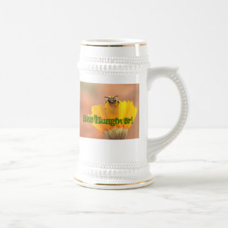 Bee Hungover! 18 Oz Beer Stein