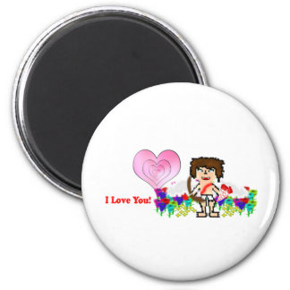 Bee: I Love You 2 Inch Round Magnet
