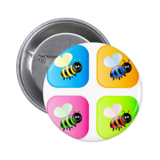 Bee Icons Pinback Button