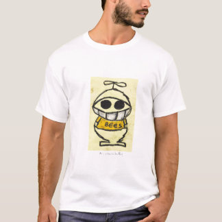 Bee in a beanie by Leo Rauf T-Shirt