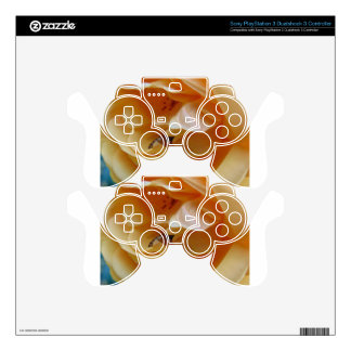 Bee In A Cream Colored Rose PS3 Controller Skin