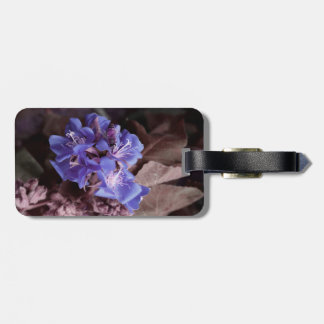 bee in blue flowers colorized purple tags for bags