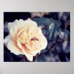 bee in flower print
