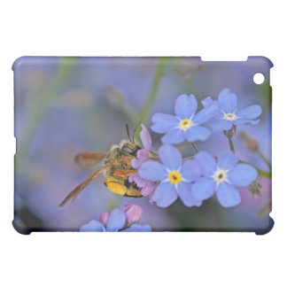 Bee in Forget Me Nots Flowers Case For The iPad Mini