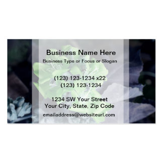 bee in green multiple flowers colorized Double-Sided standard business cards (Pack of 100)