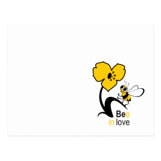 Bee in love postcard