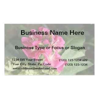bee in pink multiple flowers business card