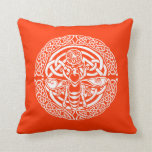 Bee in Snow Throw Pillow