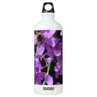 Bee in Summer Lilac at Erddig Hall Aluminum Water Bottle