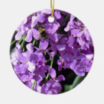 Bee in Summer Lilac at Erddig Hall Christmas Tree Ornament