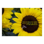 Bee in Sunflower What Sunflowers Do Poster