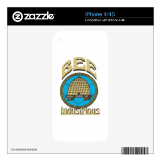 Bee Industrious Decals For iPhone 4S