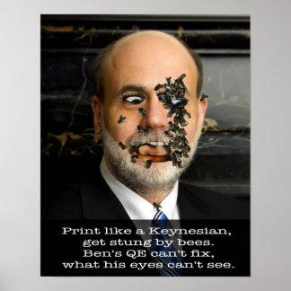 Bee-ing Ben Bernanke Print