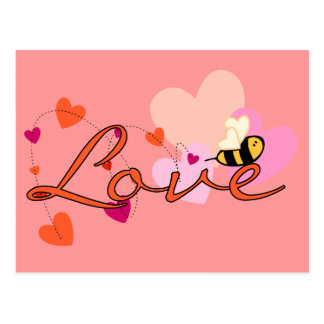 Bee-ing in Love Valentine Post Cards