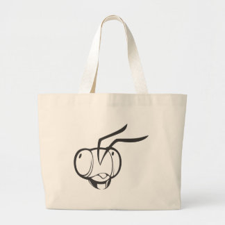 Bee Insect Head Large Tote Bag