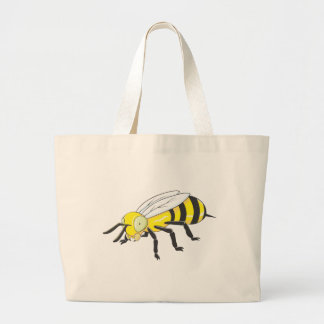 Bee Insect Large Tote Bag