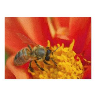 "Bee 5"" X 7"" Invitation Card"
