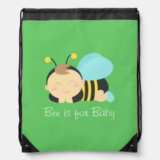 Bee is for Baby, Bumble Bee for Mommy Drawstring Bag