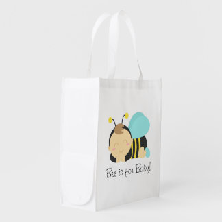 Bee is for Baby, Bumble Bee for Mommy Market Tote