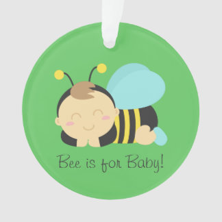 Bee is for Baby, Cute Bumble Bee Boy Ornament