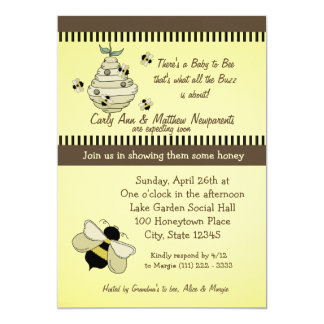 Bee is for Baby Shower Announcements