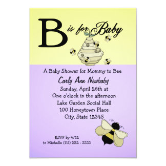 Bee is for Baby Shower Personalized Announcements