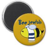 """""""Bee Jewish"""" 2 Inch Round Magnet"""