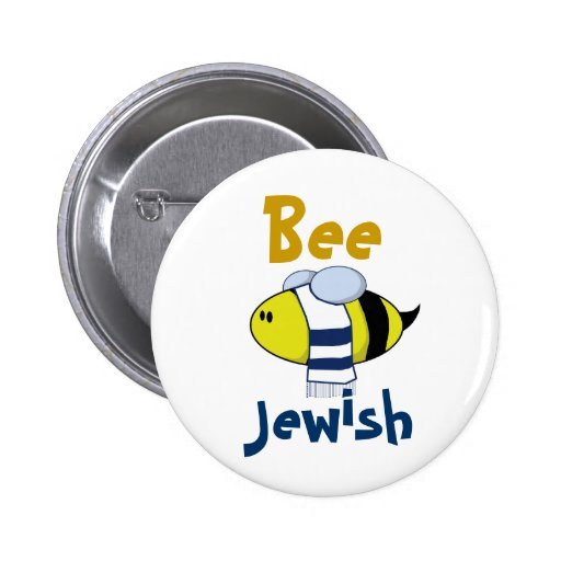 """Bee Jewish"" Button"