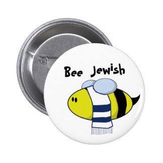 """""""Bee Jewish"""" Pins"""