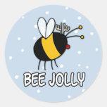 bee jolly classic round sticker