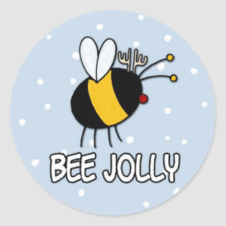 Christmas Bees Stickers | Zazzle
