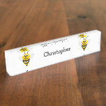 Bee Just Add Name Desk Name Plate